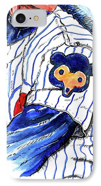 IPhone Case featuring the painting My Favorite Chicago Cub by Terry Banderas