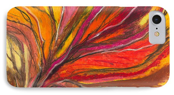 IPhone Case featuring the painting My Fever Burns by Ania M Milo