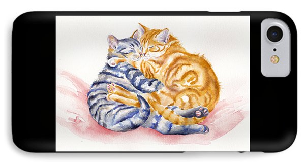 Cat iPhone 7 Case - My Furry Valentine by Debra Hall