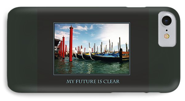 My Future Is Clear IPhone Case by Donna Corless