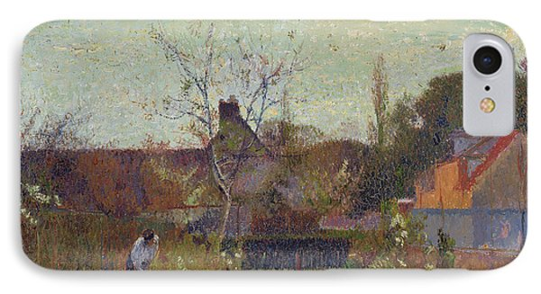 My Garden In Spring IPhone Case by Joseph Delattre
