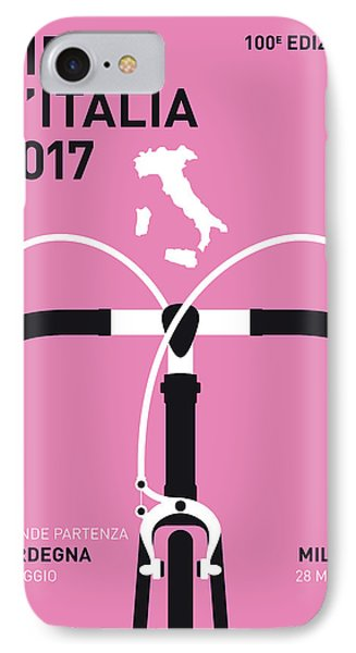 My Giro Ditalia Minimal Poster 2017 IPhone 7 Case by Chungkong Art