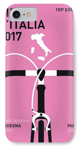 My Giro Ditalia Minimal Poster 2017 IPhone Case by Chungkong Art