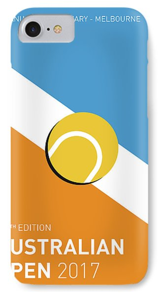 IPhone Case featuring the digital art My Grand Slam 01 Australian Open 2017 Minimal Poster by Chungkong Art