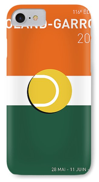My Grand Slam 02 Rolandgarros 2017 Minimal Poster IPhone 7 Case by Chungkong Art