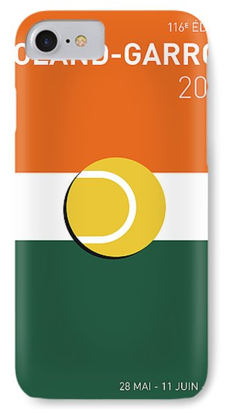My Grand Slam 02 Rolandgarros 2017 Minimal Poster IPhone Case by Chungkong Art
