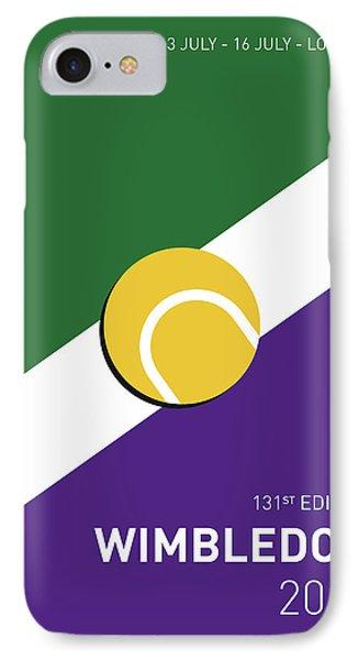 My Grand Slam 03 Wimbeldon Open 2017 Minimal Poster IPhone 7 Case