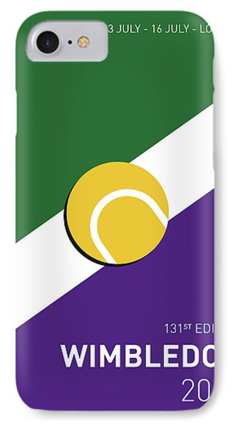 My Grand Slam 03 Wimbeldon Open 2017 Minimal Poster IPhone 7 Case by Chungkong Art