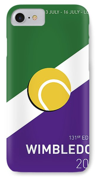 My Grand Slam 03 Wimbeldon Open 2017 Minimal Poster IPhone Case by Chungkong Art