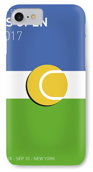 My Grand Slam 04 Us Open 2017 Minimal Poster IPhone 7 Case by Chungkong Art