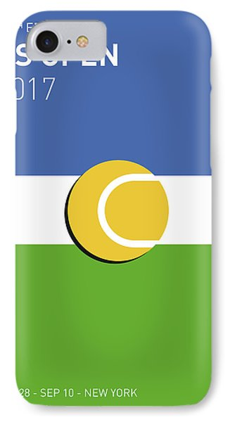 IPhone Case featuring the digital art My Grand Slam 04 Us Open 2017 Minimal Poster by Chungkong Art