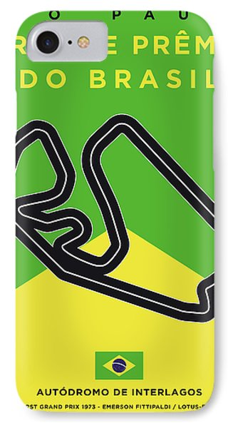 My Grande Premio Do Brasil Minimal Poster IPhone Case