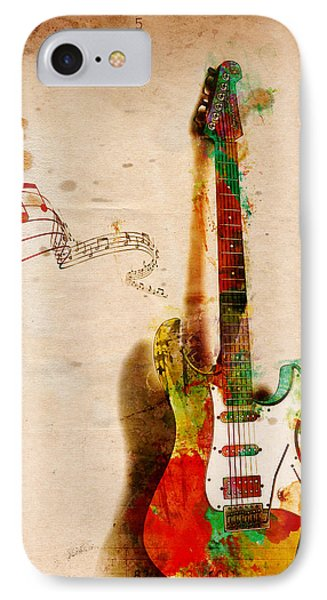 Guitar iPhone 7 Case - My Guitar Can Sing by Nikki Smith
