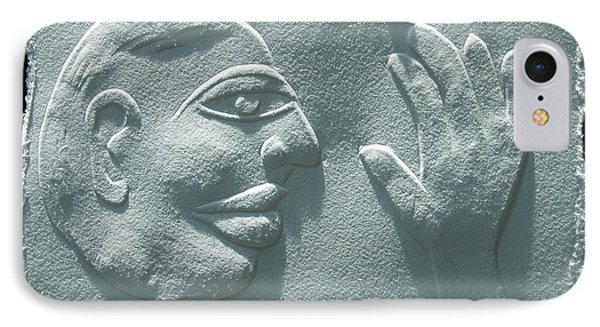 IPhone Case featuring the relief My Hand by Suhas Tavkar