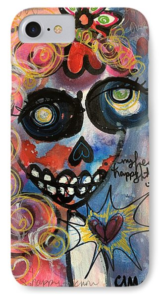 IPhone Case featuring the painting My Heart Is So Happy To Know You by Laurie Maves ART