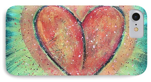 IPhone Case featuring the painting My Heart Loves You by Laurie Maves ART