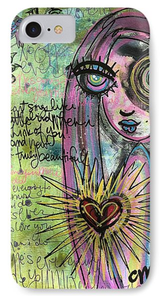 IPhone Case featuring the painting My Heart Sings Like This Little Bird by Laurie Maves ART