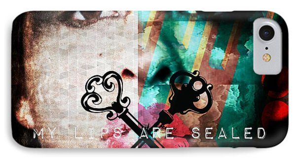 My Lips Are Sealed IPhone Case