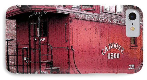 My Little Red Caboose IPhone Case by Gary Baird