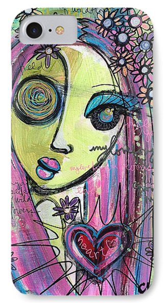 My Love For You Blooms Phone Case by Laurie Maves ART