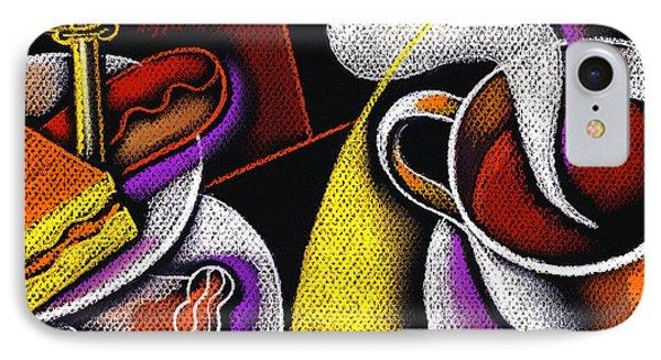My Morning Coffee IPhone Case by Leon Zernitsky
