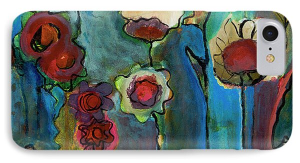 IPhone Case featuring the painting My Mother's Garden by Susan Stone