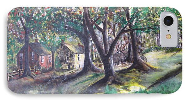 IPhone Case featuring the painting My Old Southern Plantation Home by Gary Smith