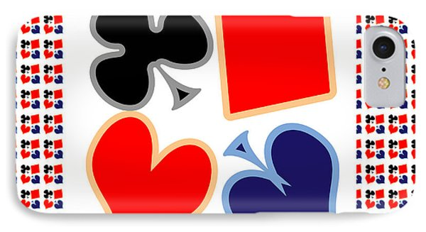 My Poker Room Decorations  Heart Spade Clubs Diamond Card Games Collection IPhone Case
