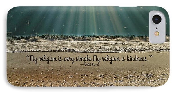 IPhone Case featuring the mixed media My Religion by Trish Tritz