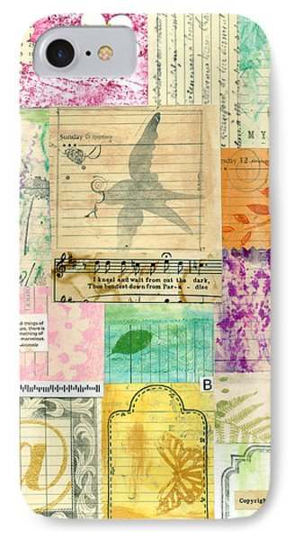 My Secret - Paper Collage Phone Case by Sandra Foster