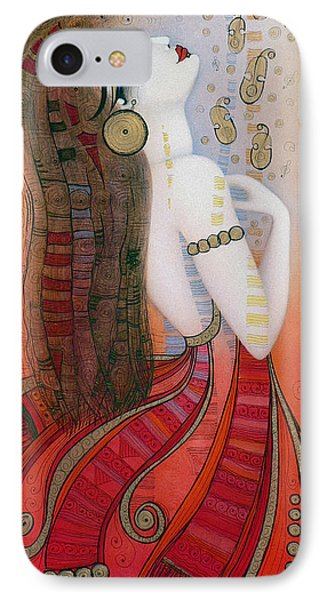 My Soul Is A Moan... IPhone Case by Albena Vatcheva