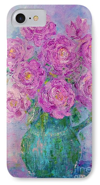 My Summer Roses IPhone Case by AmaS Art