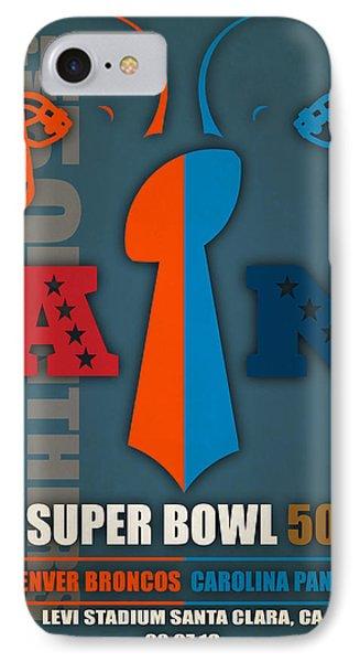 My Super Bowl 50 Broncos Panthers 4 IPhone Case by Joe Hamilton
