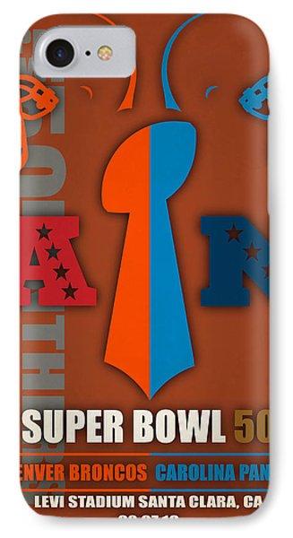 My Super Bowl 50 Broncos Panthers 5 IPhone Case by Joe Hamilton