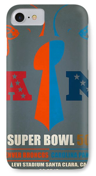 My Super Bowl 50 Broncos Panthers IPhone Case by Joe Hamilton