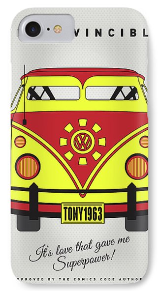 My Superhero-vw-t1-iron Man IPhone Case by Chungkong Art