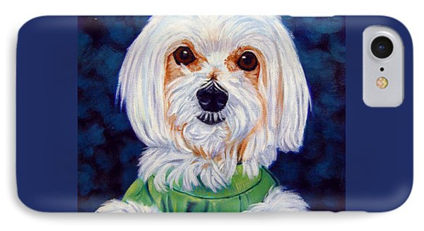 My Sweater - Maltese Dog IPhone Case by Lyn Cook