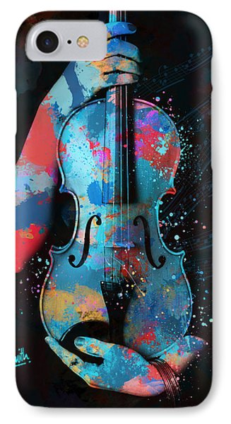 My Violin Whispers Music In The Night Phone Case by Nikki Marie Smith