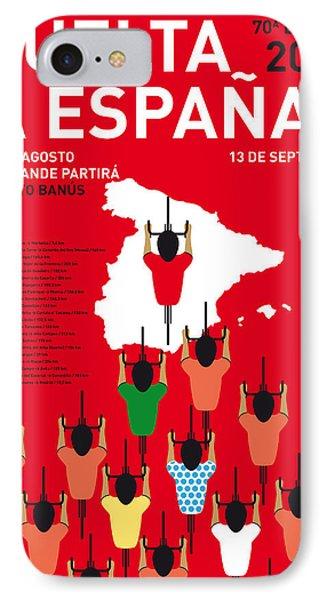 My Vuelta A Espana Minimal Poster Etapas 2015 IPhone Case by Chungkong Art