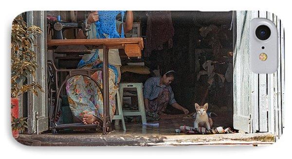 Myanmar - Sewing Workshop IPhone Case