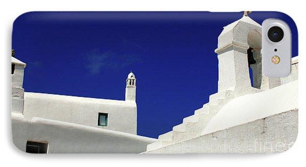 Mykonos Greece Architectual Line 5 IPhone Case by Bob Christopher