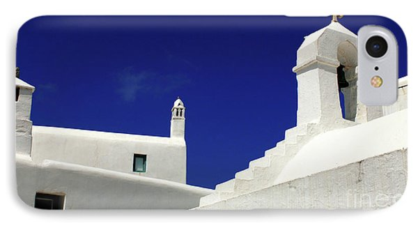 IPhone Case featuring the photograph Mykonos Greece Architectual Line 5 by Bob Christopher