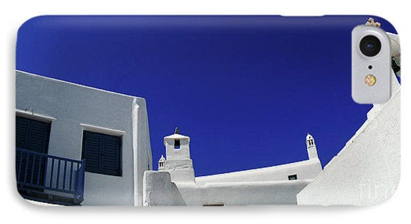 IPhone Case featuring the photograph Mykonos Greece Clean Line Architecture by Bob Christopher