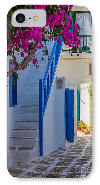 Mykonos Staircase IPhone Case by Inge Johnsson