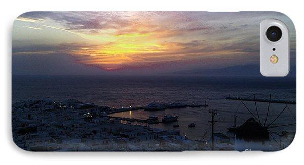 Mykonos Sunset Greece IPhone Case by Ioannis Kontogiannis