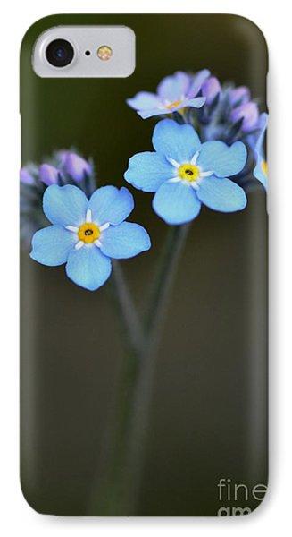 IPhone Case featuring the photograph Myosotis by Sylvie Leandre