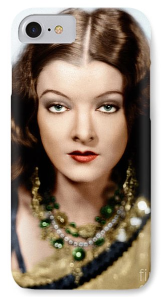 IPhone Case featuring the photograph Myrna Loy by Granger