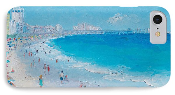 Myrtle Beach And Springmaid Pier IPhone Case by Jan Matson