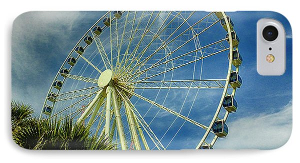 IPhone Case featuring the photograph Myrtle Beach Skywheel by Bill Barber