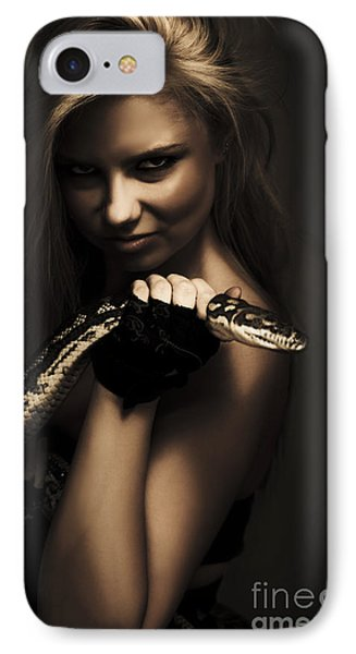 Mysterious Dark Sorceress IPhone Case by Jorgo Photography - Wall Art Gallery